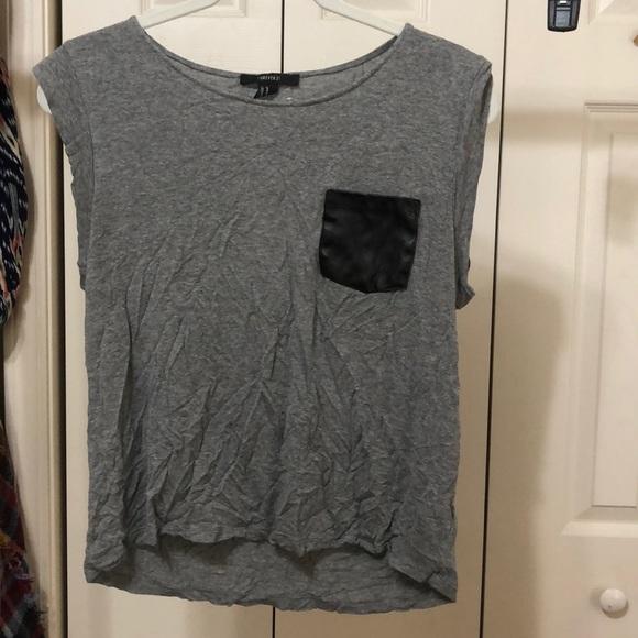 Forever 21 Tops - Leather pocket shirt